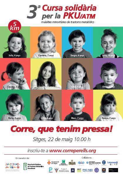 Cursa solidaria PKU-ATMCorre per ells Sitges 2016