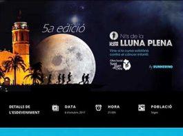 """Cursa solidaria """"Nits de la lluna plena"""" Sitges 2017"""