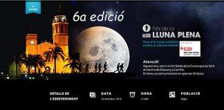 """Cursa solidaria """"Nits de la lluna plena"""" Sitges 2018"""