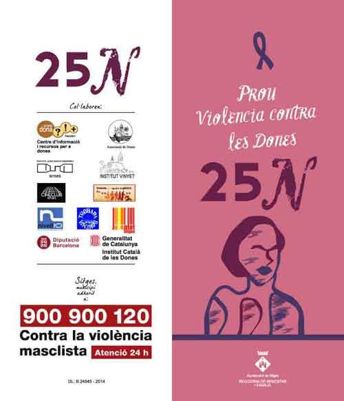 cartell dia violencia dones sitges 2014