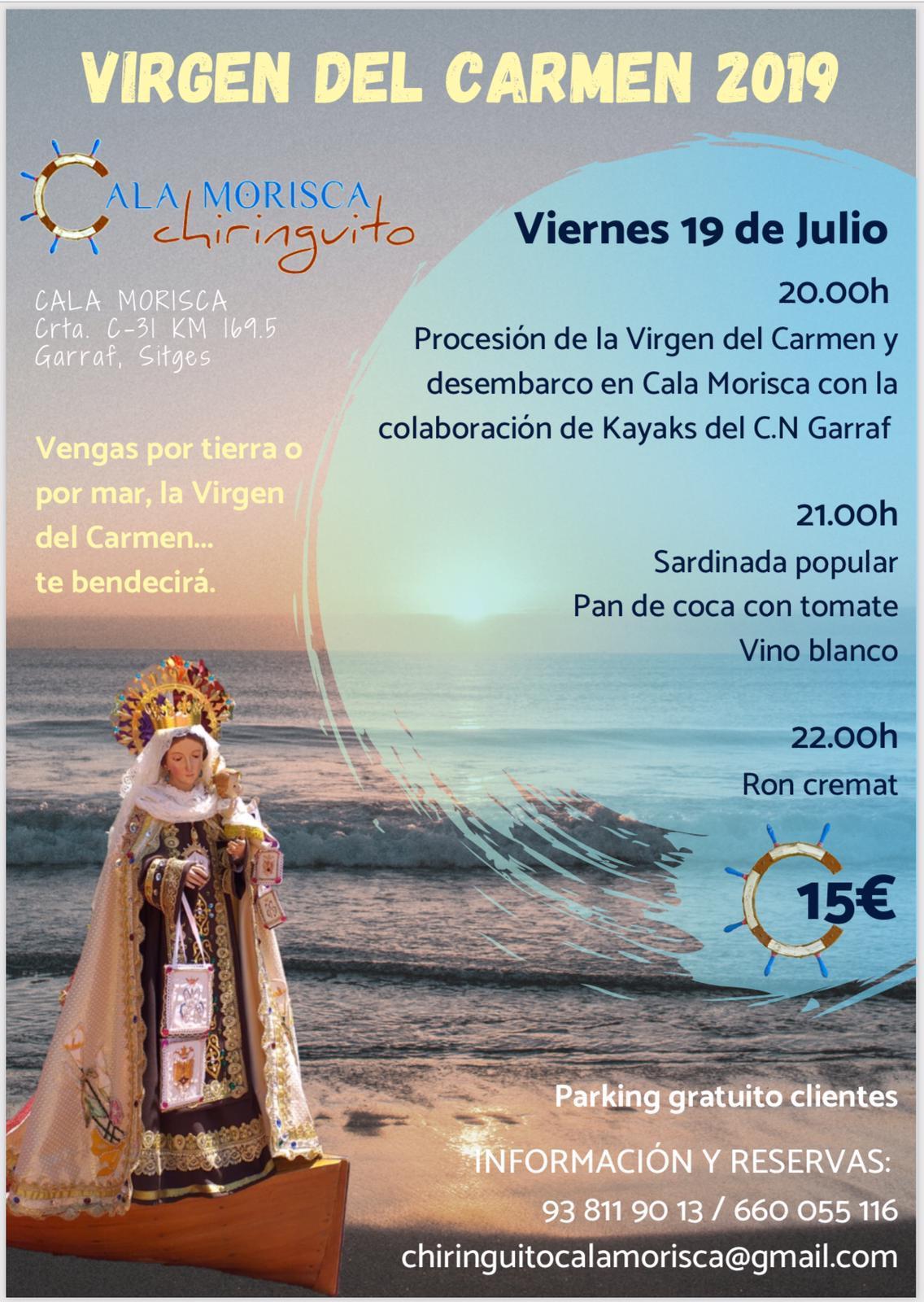 fiesta carmen Chiringuito Cala Morisca
