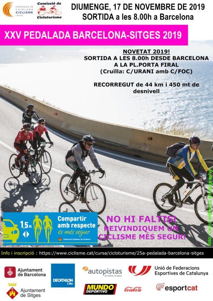 XXV Pedalada Barcelona-Sitges